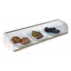 Vitrina neutra abierta con cristal curvo - VC