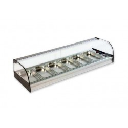 Vitrina frigorífica de Cubetas Cristal Curvo Gastronorm - FR
